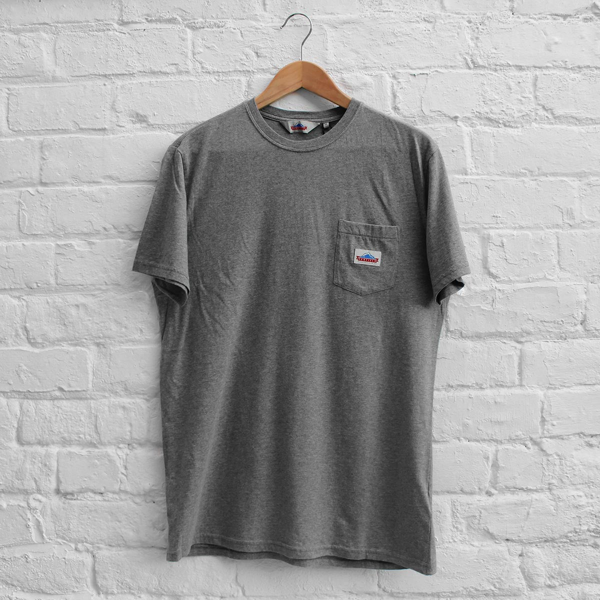 Penfield Label Pocket T-Shirt Grey