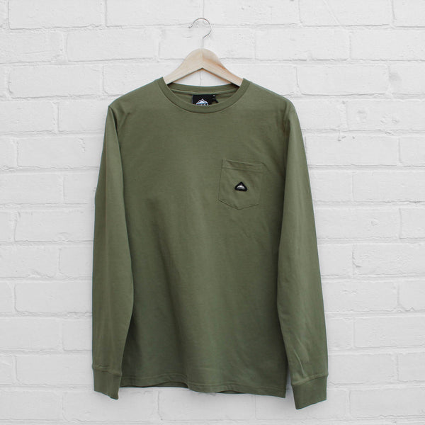 Penfield Northbridge Long Sleeve T-Shirt Olive
