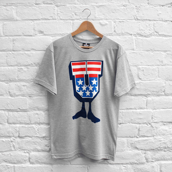 Undefeated American U T-Shirt Grey Heather