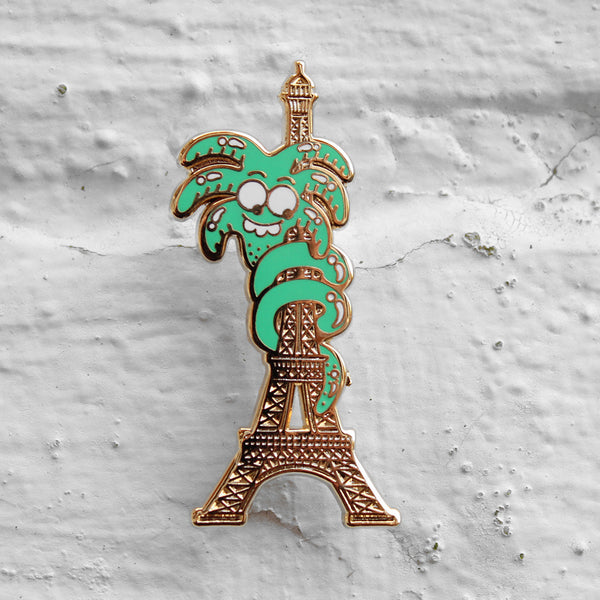 Valley Cruise Press Eiffel Tower Palm Pin Badge