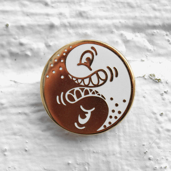Steven Harrington Yin Yang Pin Badge