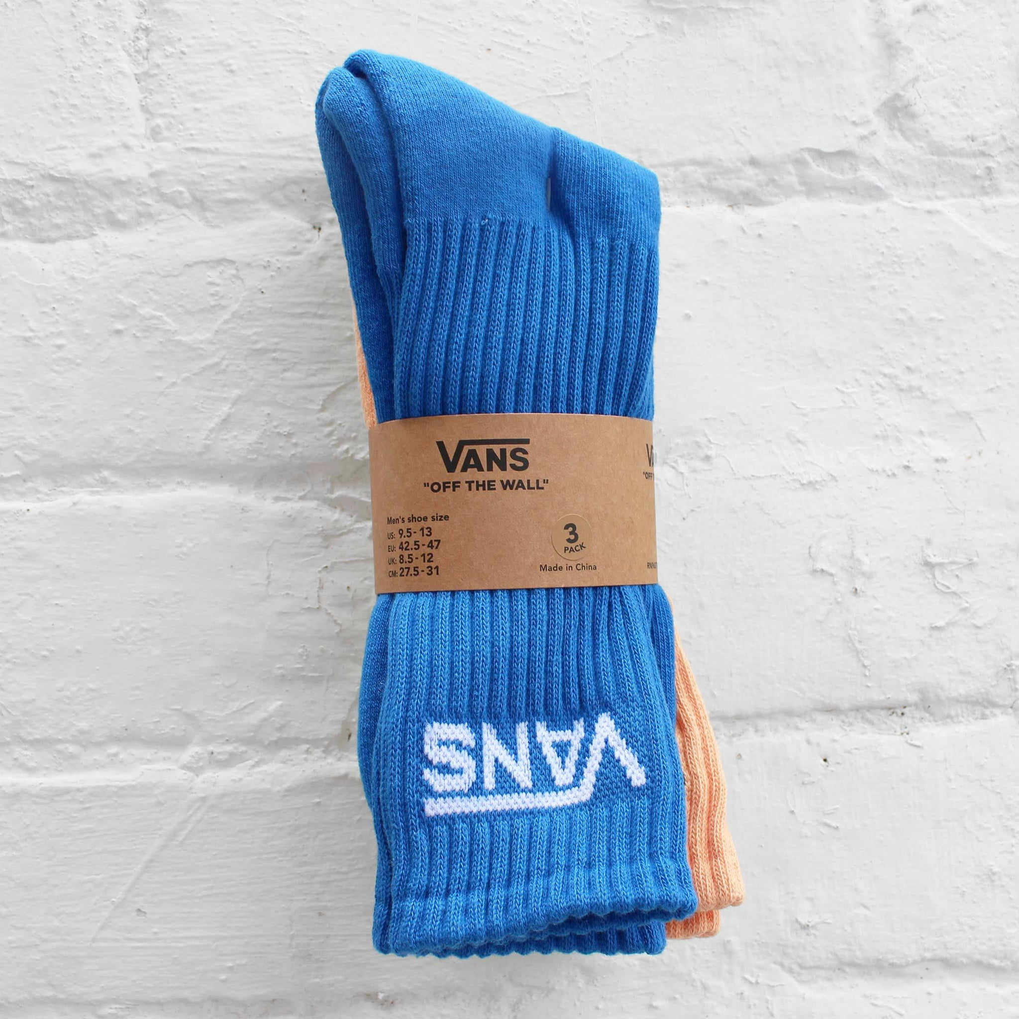 Vans Classic Crew Socks Royal Blue / Lime / Orange (3 Pack)
