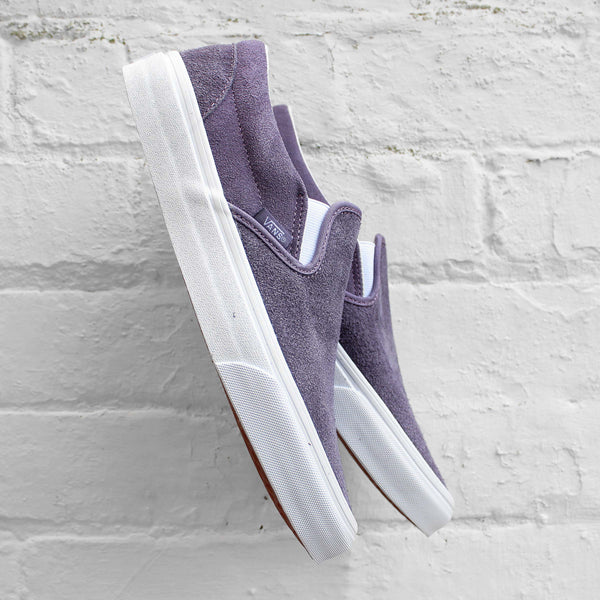 Vans Classic Slip-On Hairy Suede Purple Sage