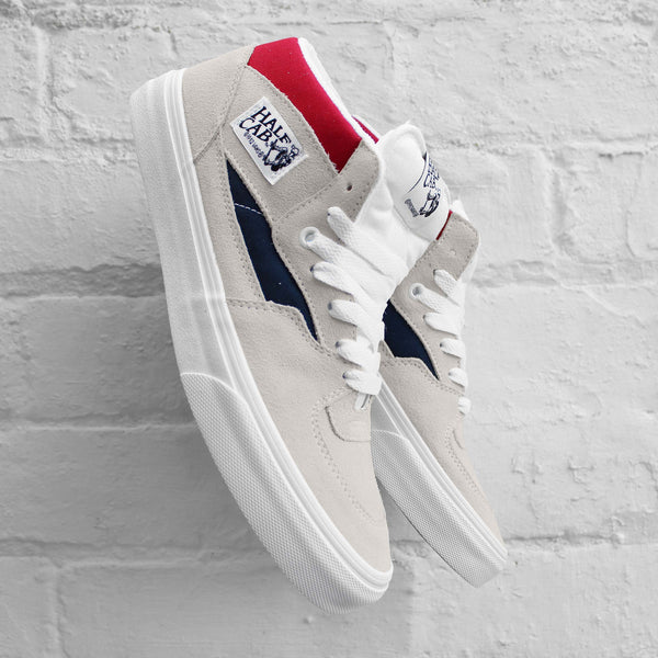 Vans Half Cab (Retro Block) White/Red/Dress Blues