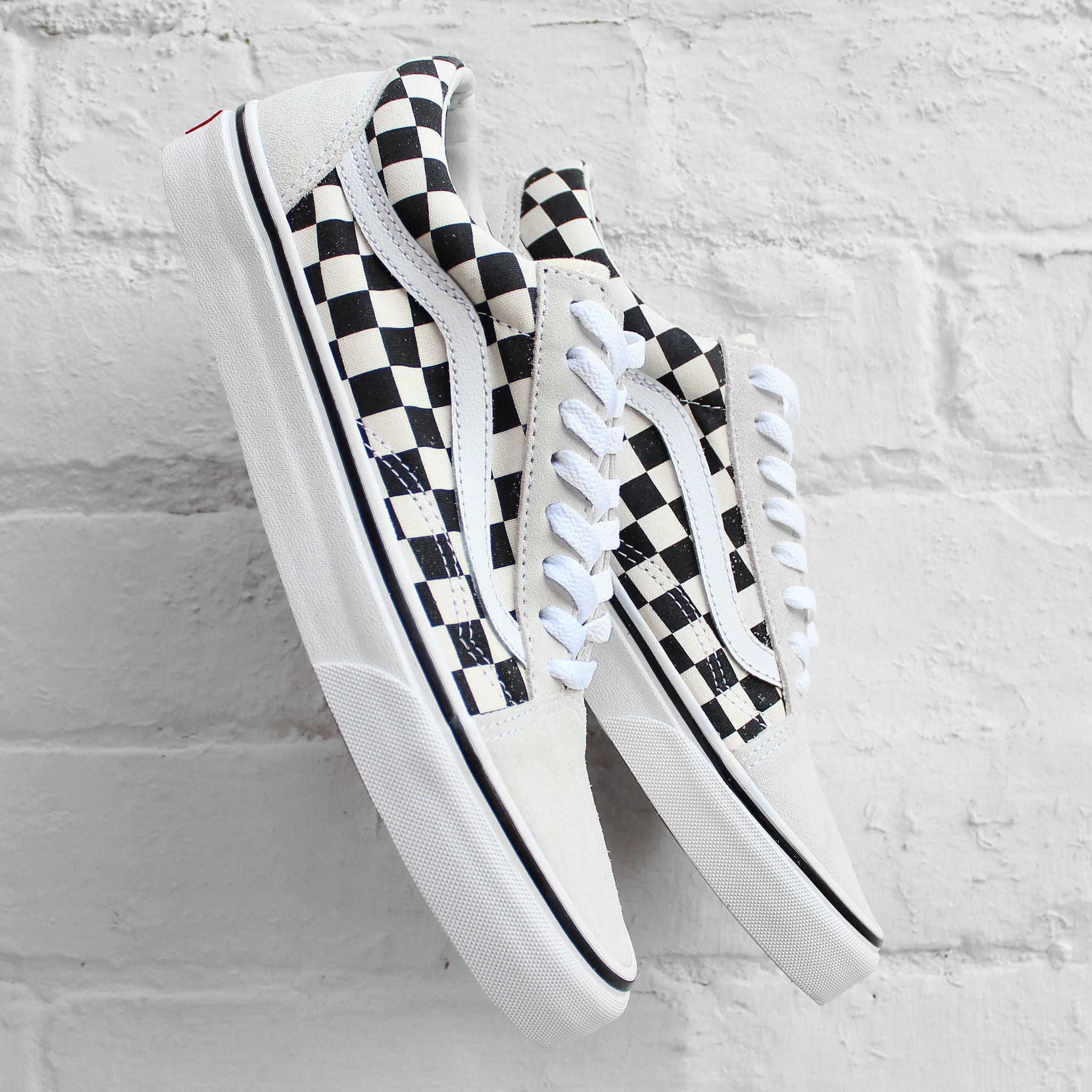 Vans Old Skool (Checkerboard)  White/Black