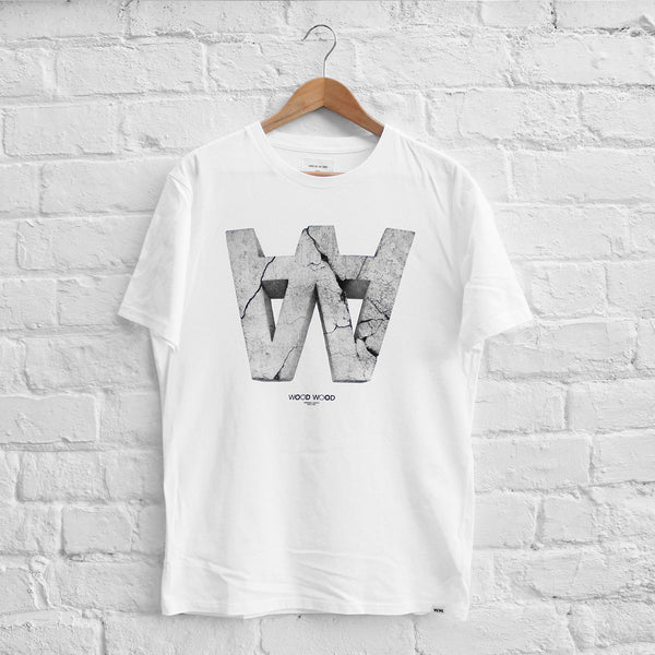 Wood Wood AA Crack T-Shirt White