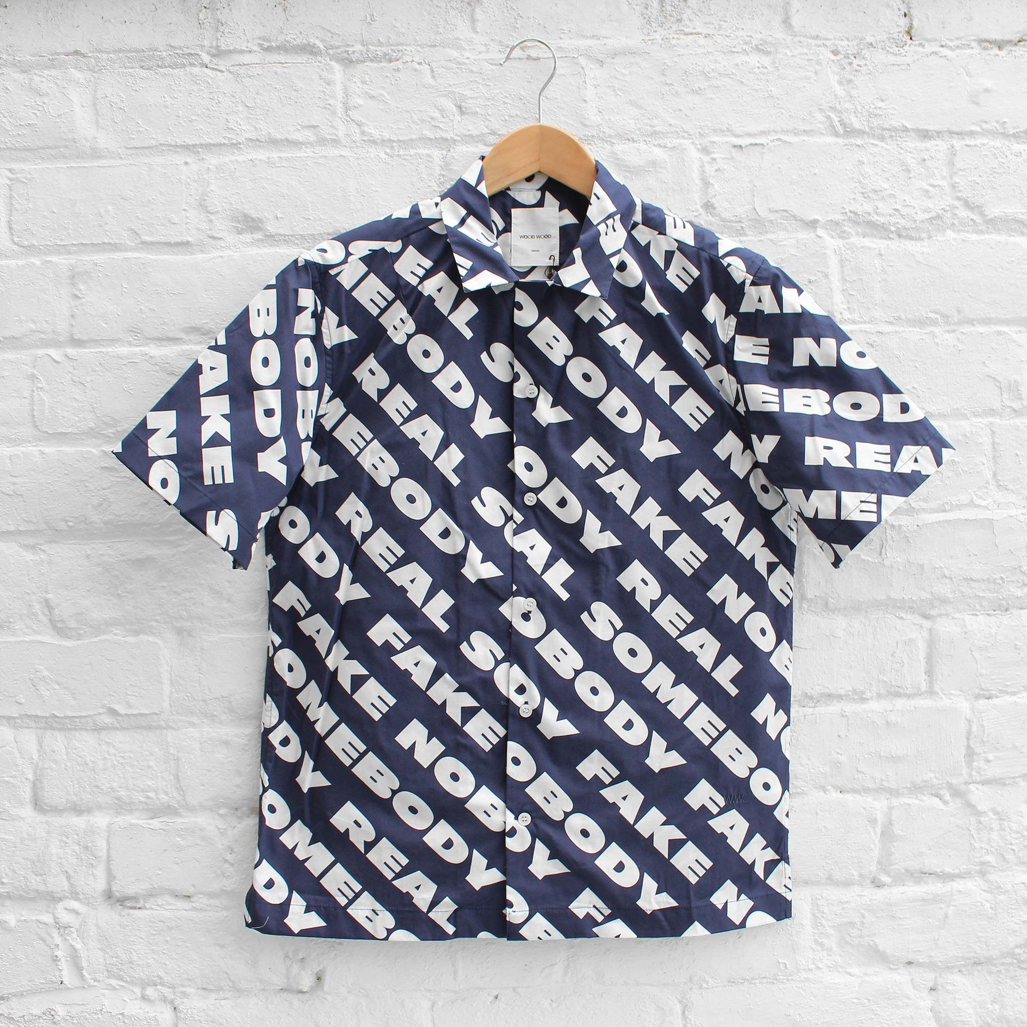 Wood Wood Brandon Shirt Navy Nosome