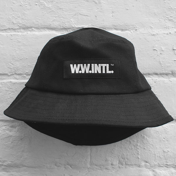 Wood Wood Bucket Hat Black
