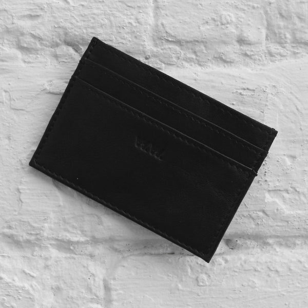 Wood Wood Card Holder Black