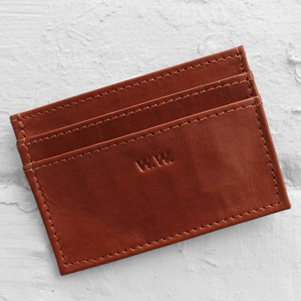 Wood Wood Card Holder Brown