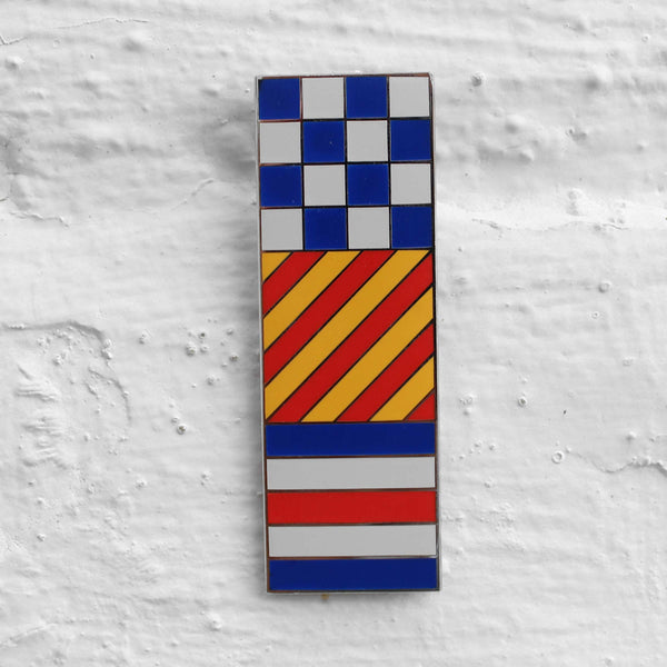Wood Wood Colourblock Pin Badge