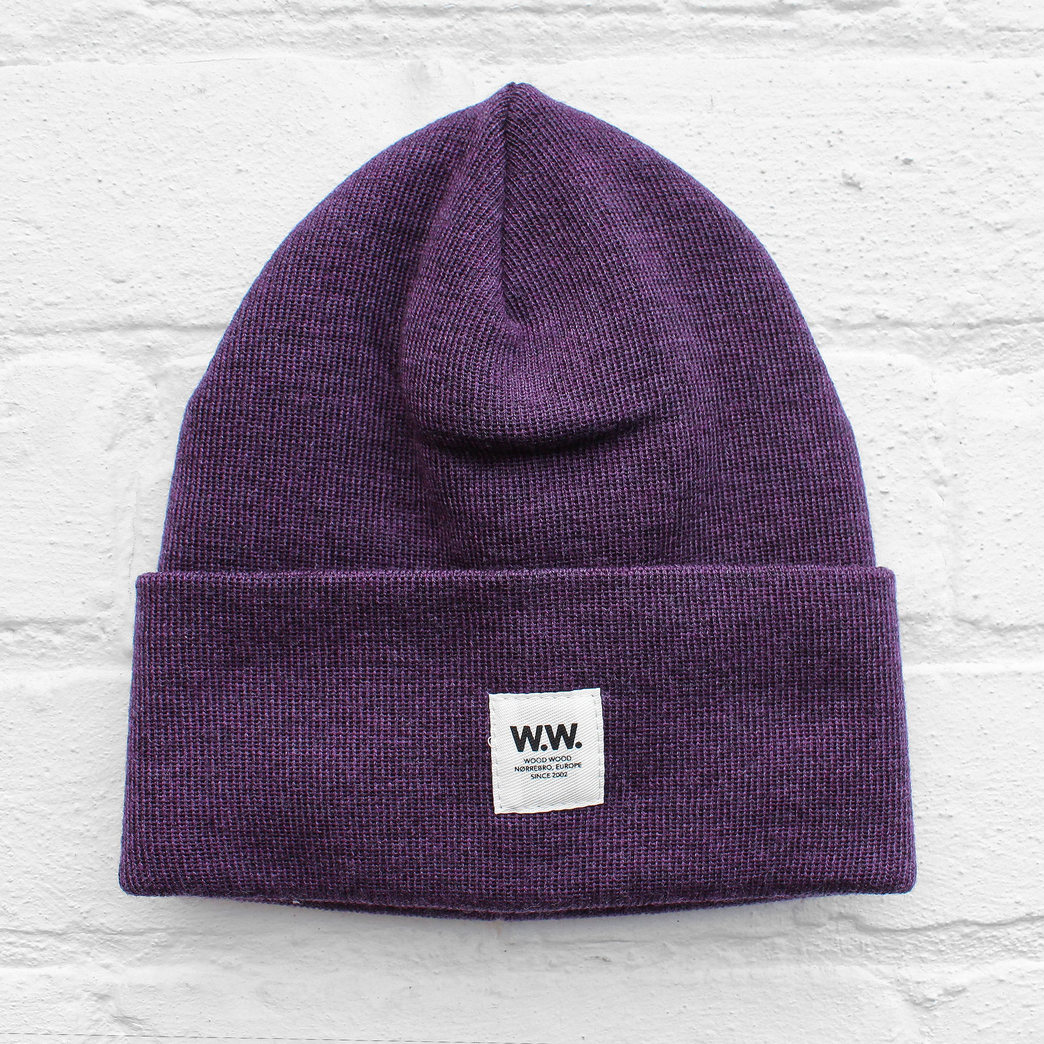 Wood Wood Gerald Tall Beanie Purple