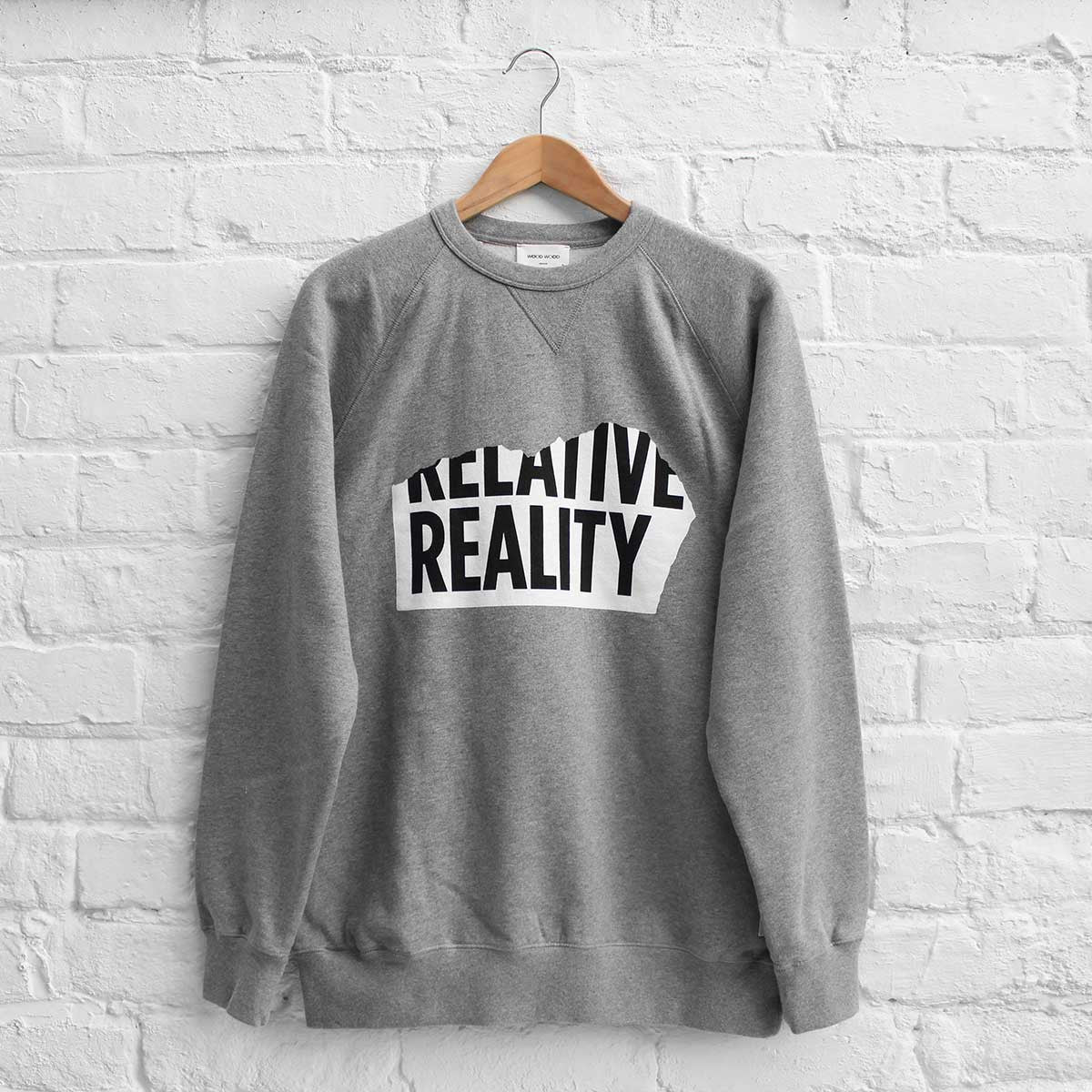 Wood Wood Hester Sweatshirt Grey Melange Relative