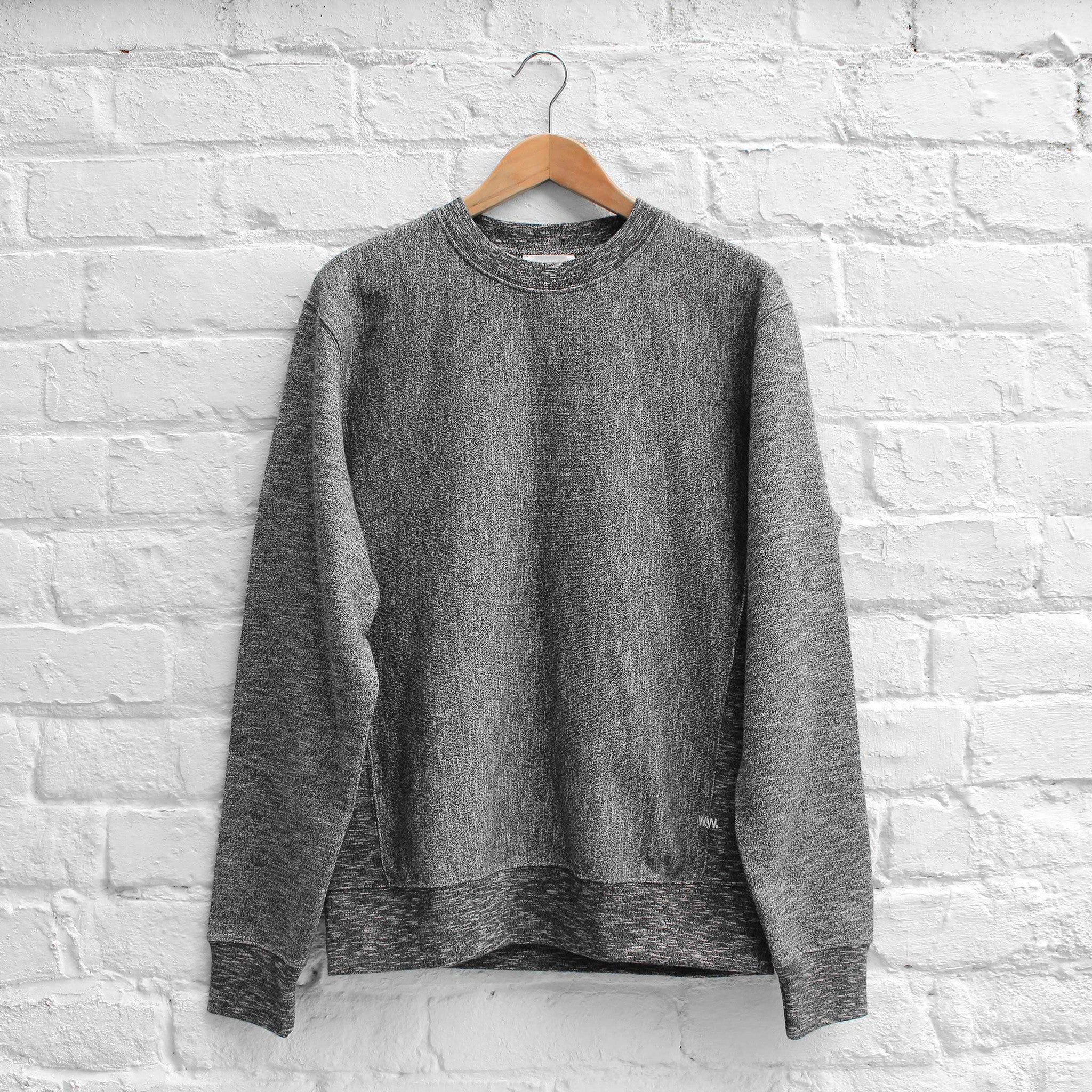 Wood Wood Larry Sweatshirt Black Melange