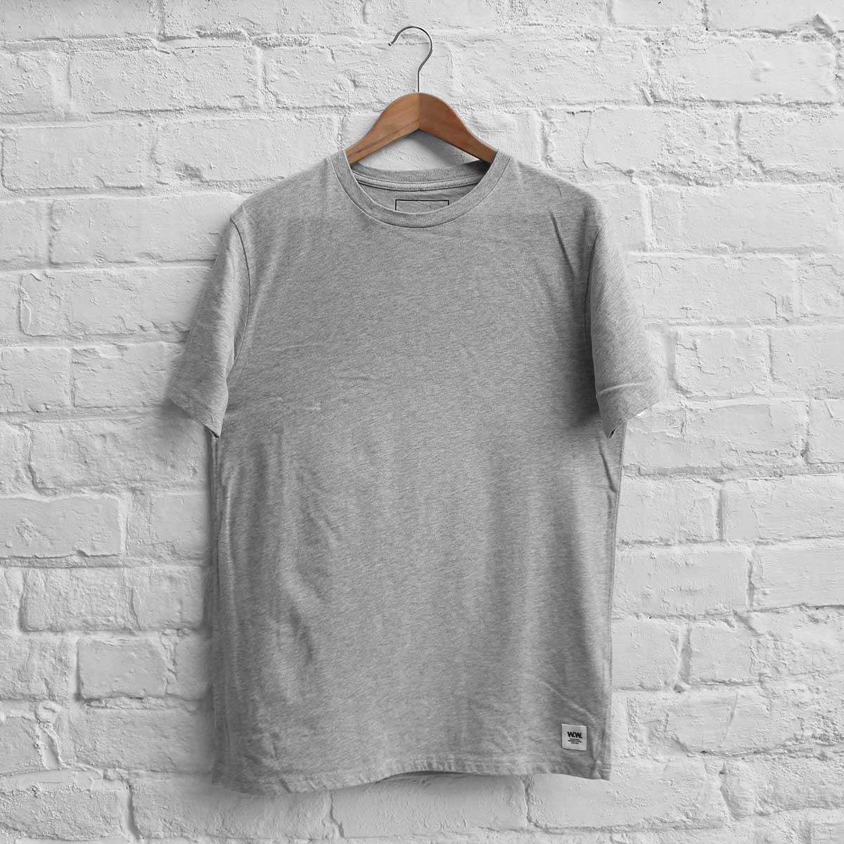 Wood Wood Basic T-Shirt Grey Melange