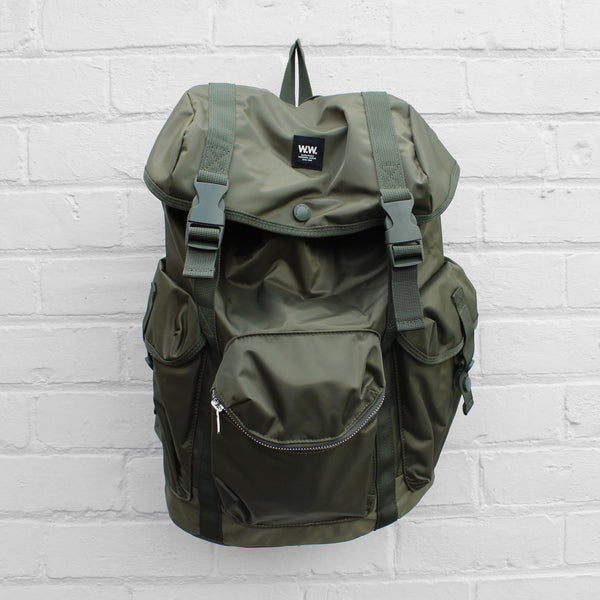 Wood Wood Mills Backpack Dark Green