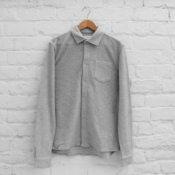Wood Wood Oval Shirt Light Grey Melange