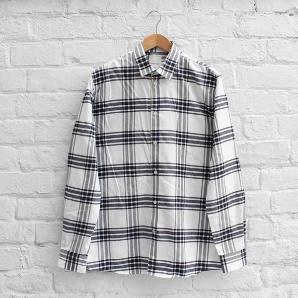 Wood Wood Piero Shirt Navy/Off-White Check