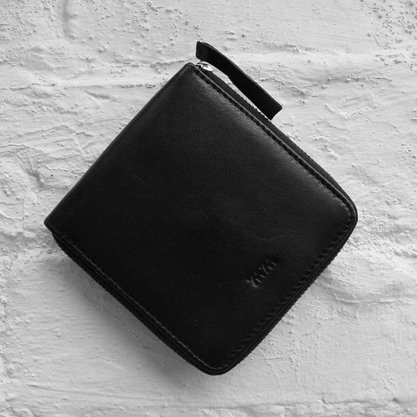 Wood Wood Square Wallet Black