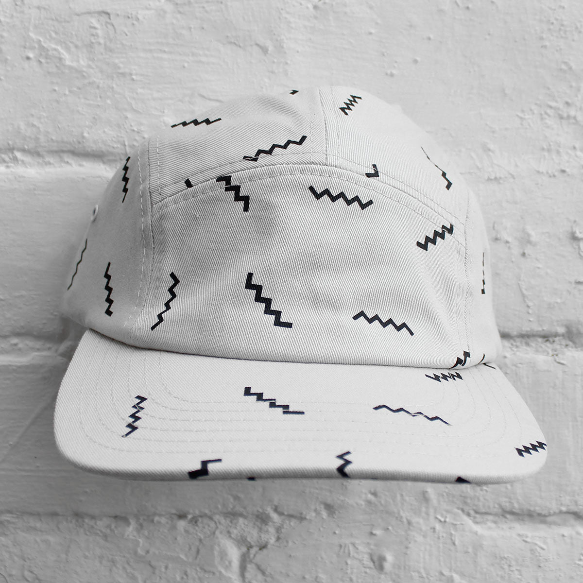 Wood Wood 5-Panel Cap White Stairs