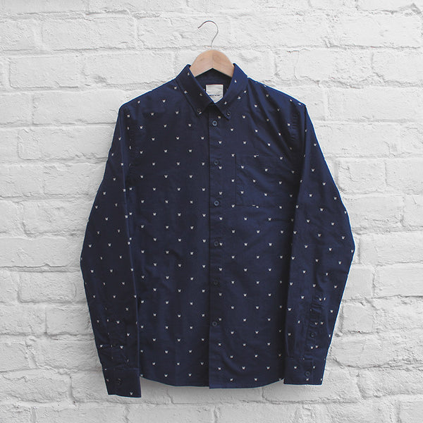 Wood Wood Timothy Shirt AA Navy