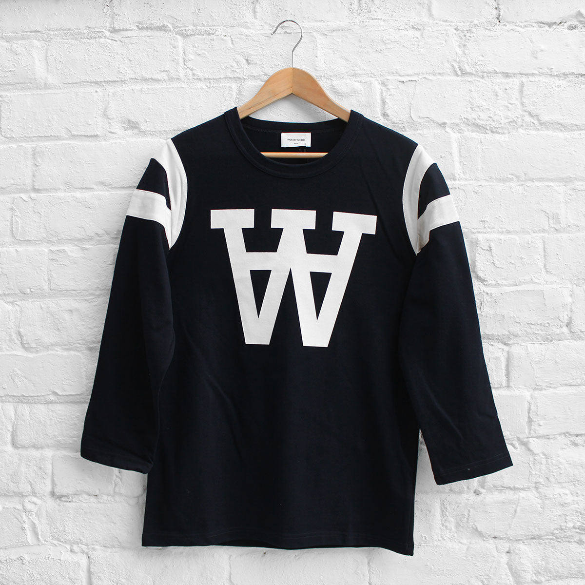 Wood Wood William Long Sleeve T-Shirt Navy