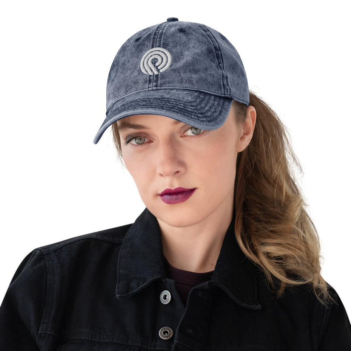 Vogue Shoes - Circle Wave Vintage Dad Hat - Vogue Shoes