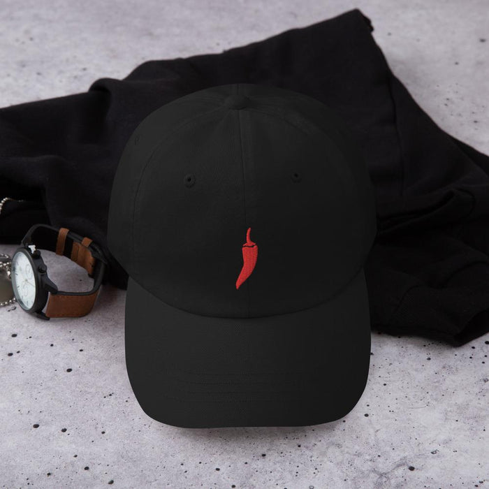 Vogue Shoes - Red Hot Pepper Dad Hat, Black - Vogue Shoes