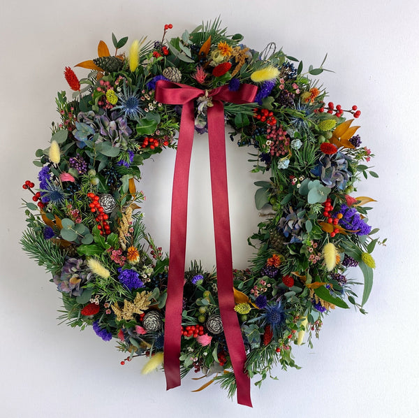 Charity Rainbow Christmas Wreath