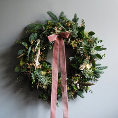 White Christmas wreath