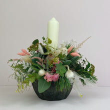 Large Blushing Christmas Table Centre