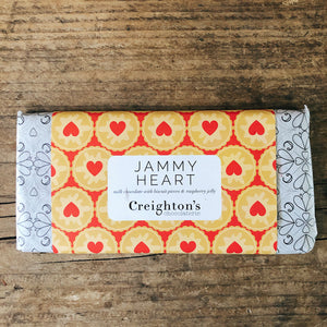 Jammy Heart Chocolate Bar