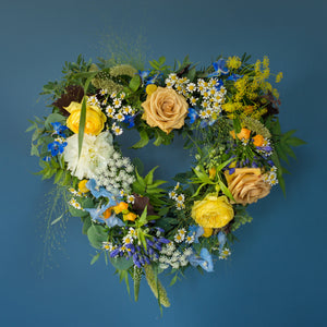 Mr Fisher Heart Wreath