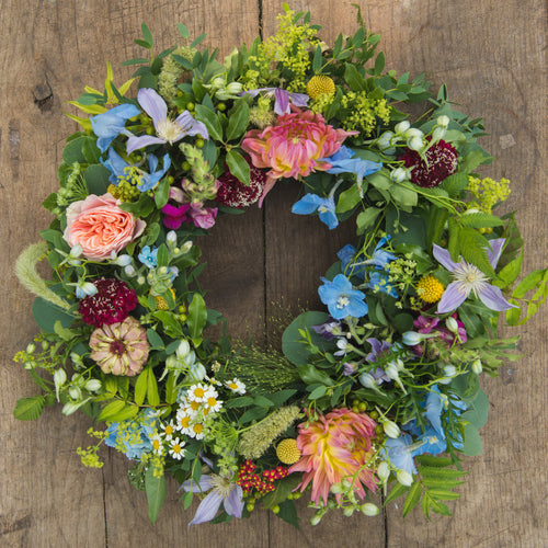 Celebration in Colour Floral Wreath