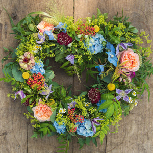 Celebration in Colour Heart Wreath