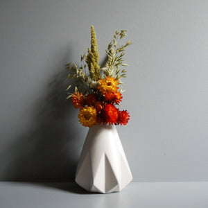 Orange Everlasting Flower Vase Sets