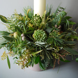 Large Evergreen Christmas Table Centre
