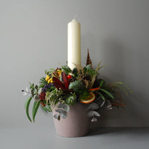 Large Christmas Pudding Table Centre