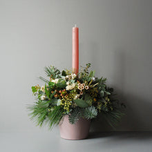 Small White Christmas Table Centre