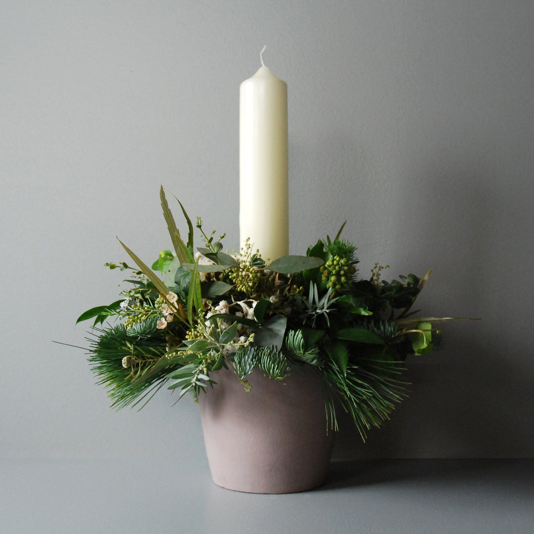 Large White Christmas Table Centre
