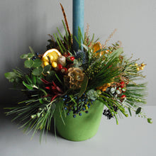 Small Christmas Pudding Table Centre