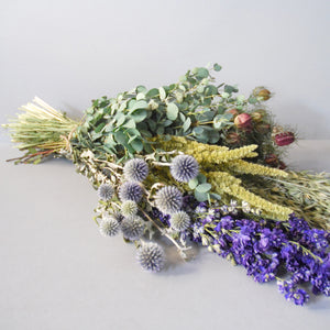 Handtied Everlasting Flower Bouquet in Purple