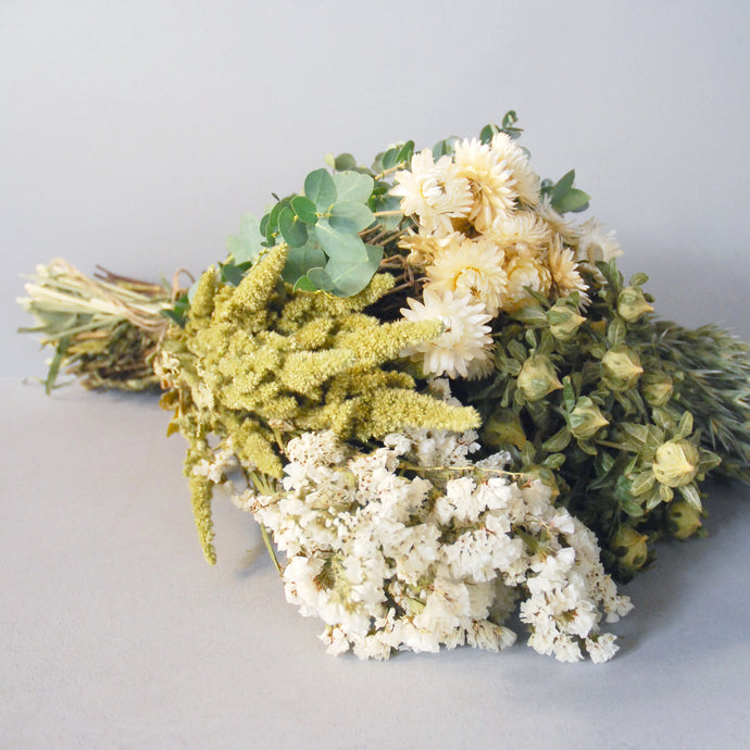 Handtied Everlasting Flower Bouquet in White