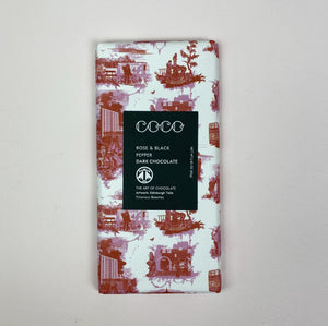 Rose & Black Pepper Dark Chocolate Bar