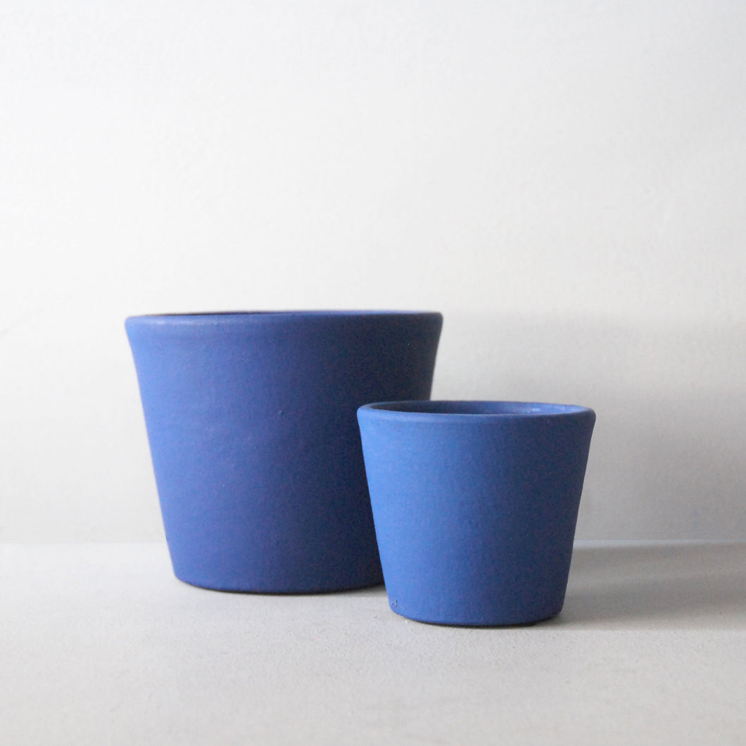 Ceramic Plant Pot Blue