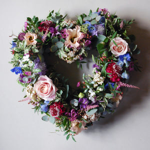 Cottage Garden Heart Wreath