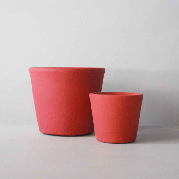 Ceramic Plant Pot Red