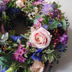 Cottage Garden Floral Wreath