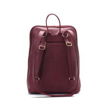 Load image into Gallery viewer, Laptop Burgundy with colourful fabric Backpack/Cross- Code 2003