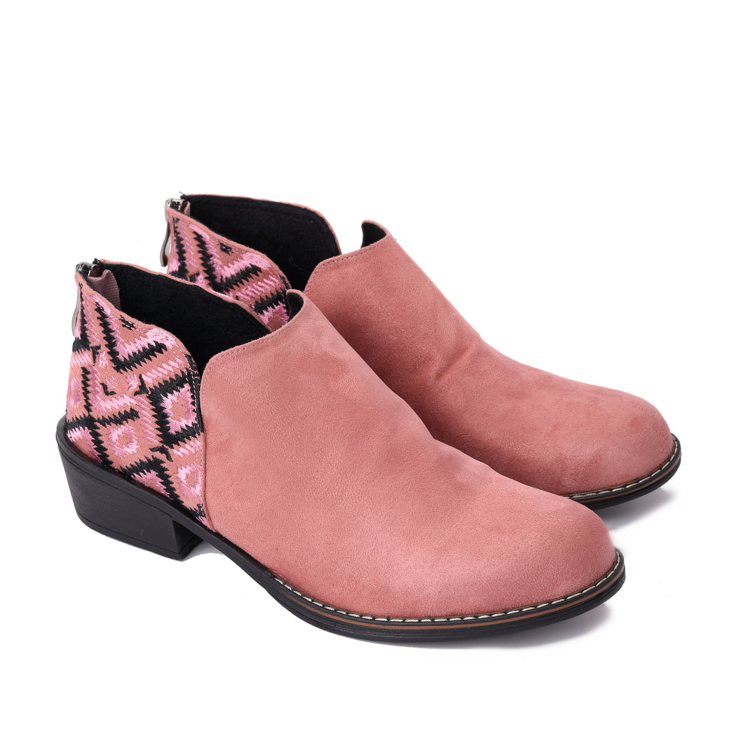 Ankle Rose Boots with Colourful embroideries -6032